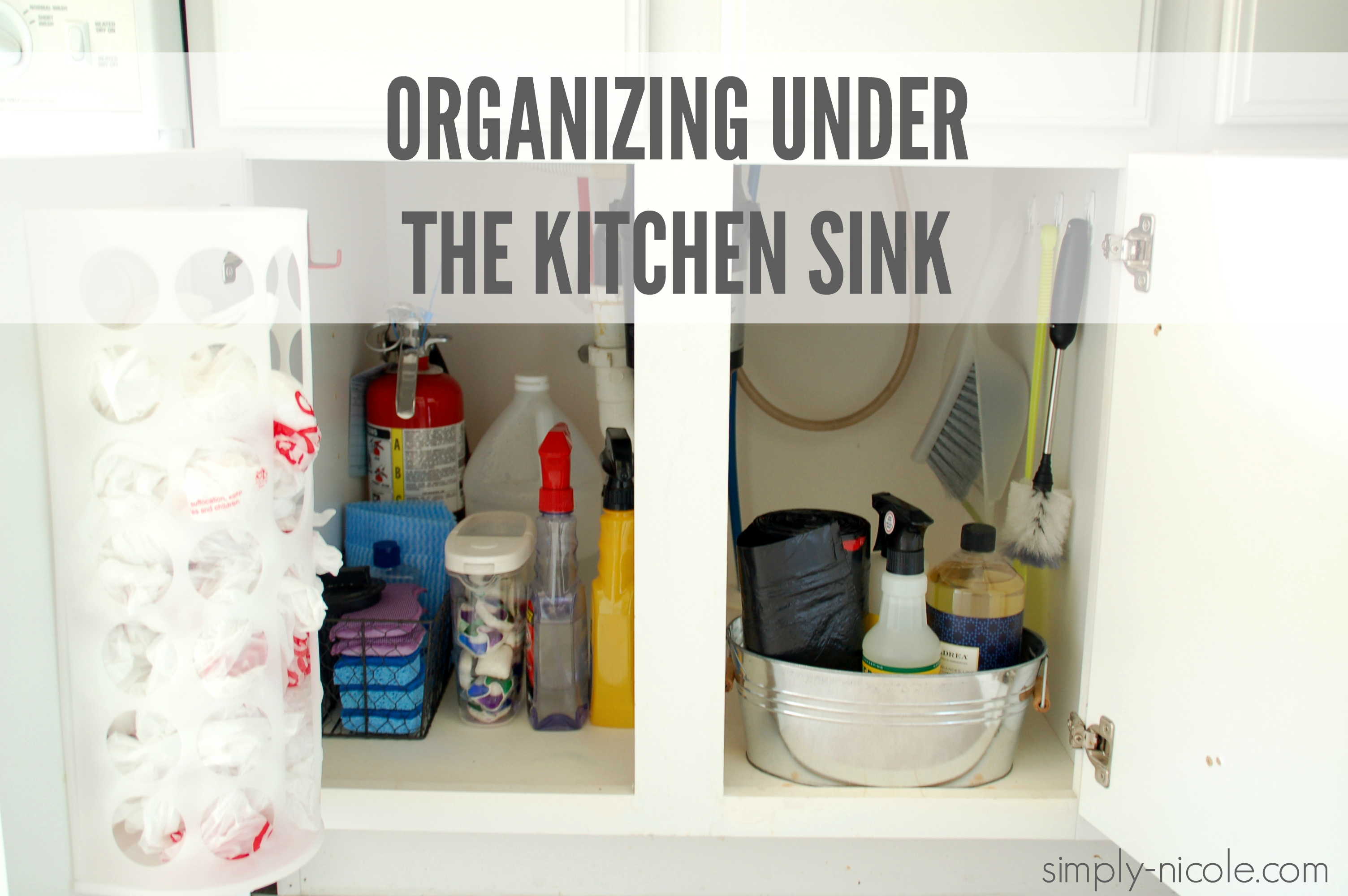 organize under the kitchen sink organizing the kitchen sink simply 7218