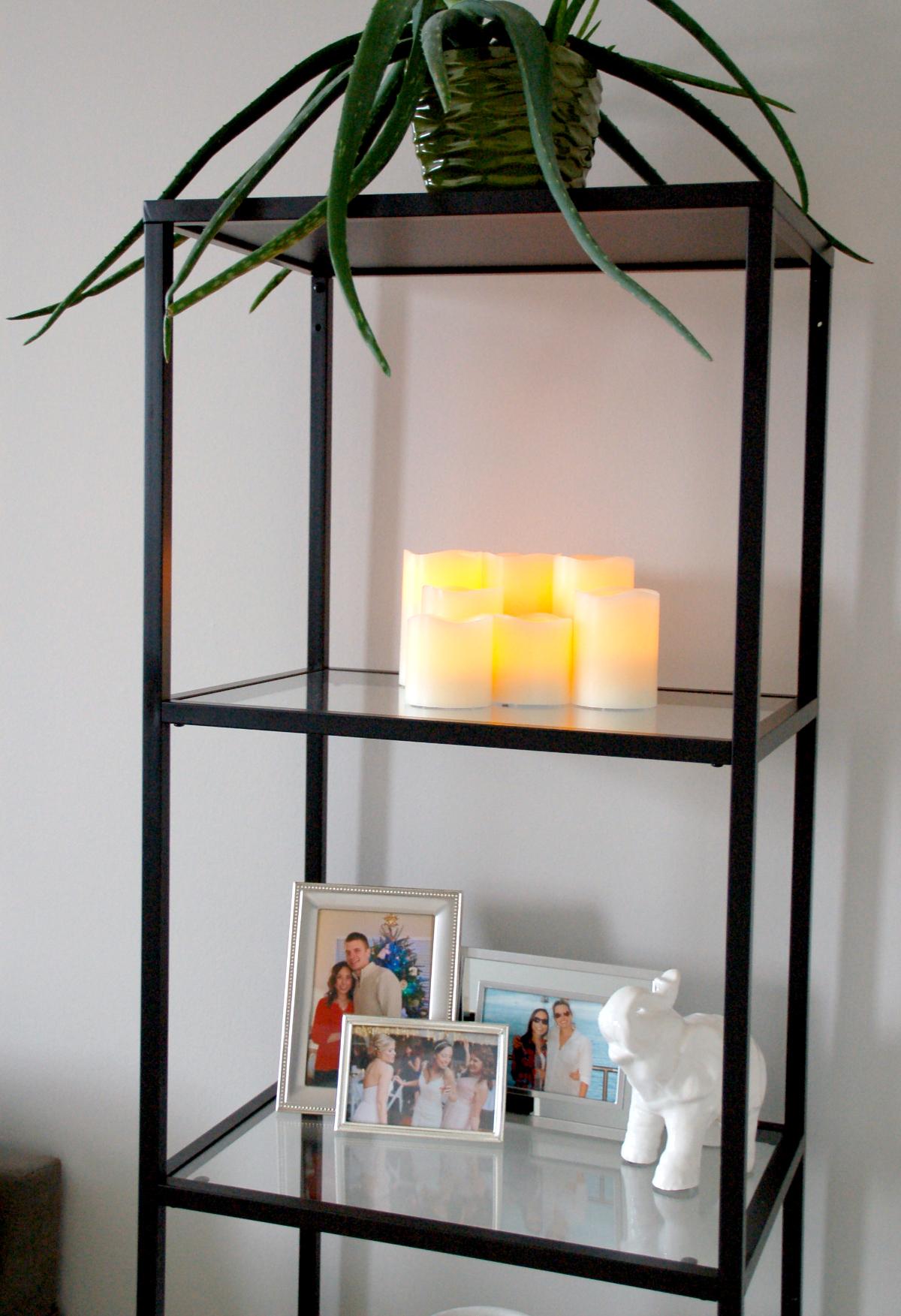 How To Decorate The Ikea Vittsjo Shelf Unit Simply Nicole